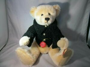 Limited-Edition-Hermann-Jointed-Teddy-Bear-100-Mohair-With-Tags-14-034-Tall-AGATHE