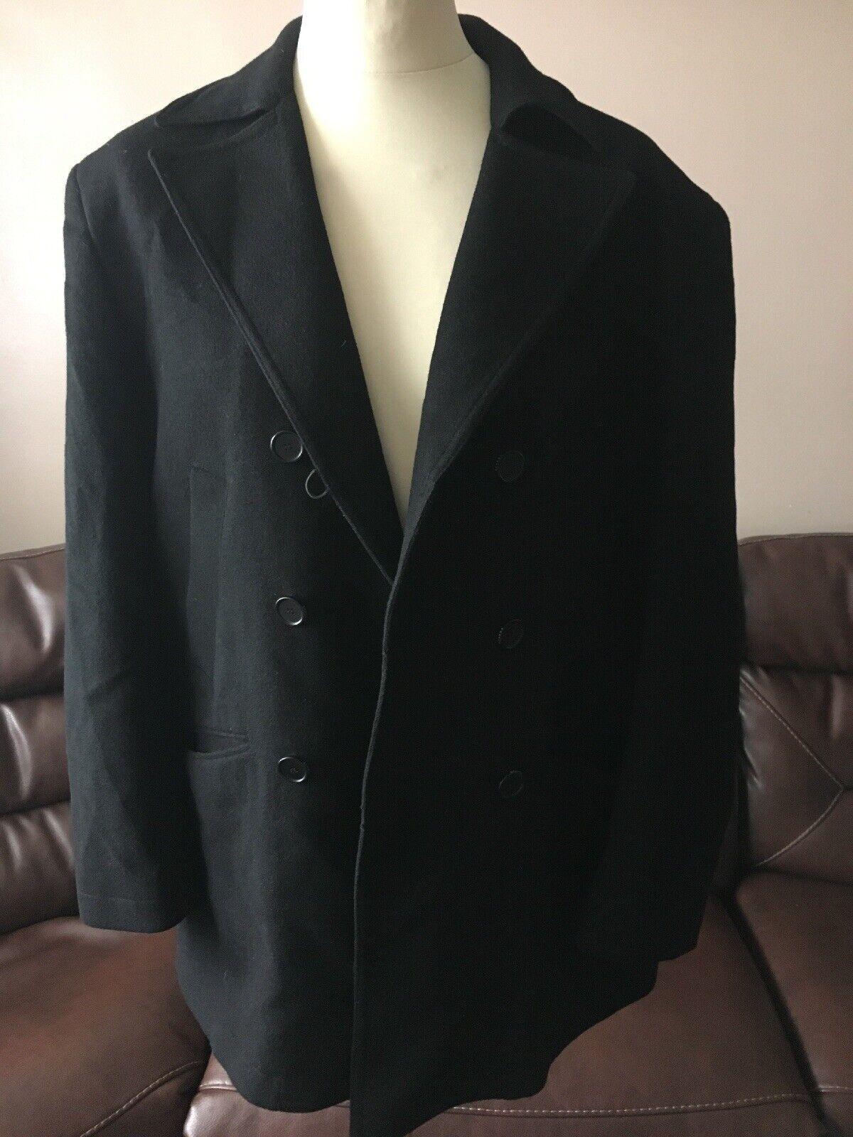 Mens Feraud Wool cashmere Coat Size XL