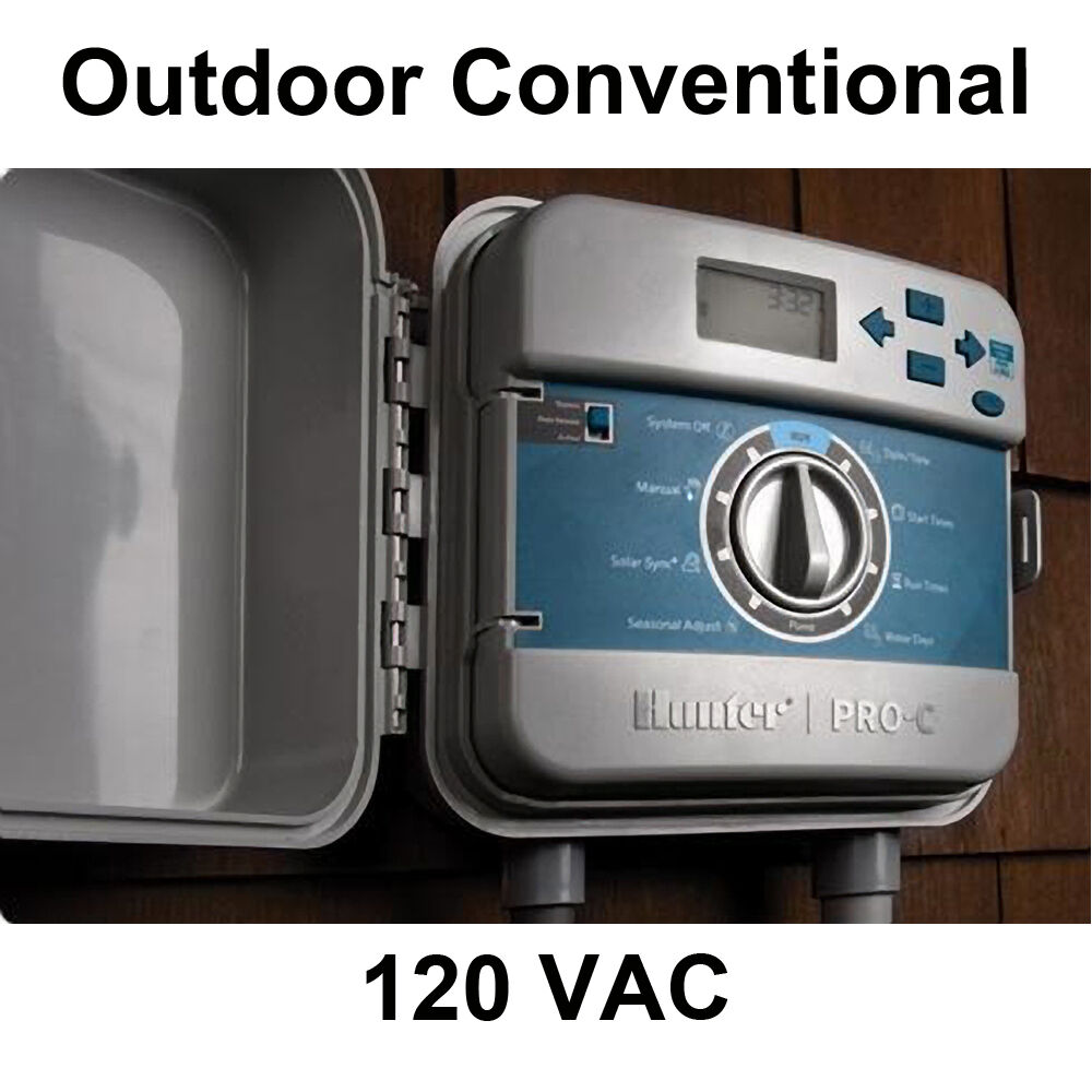 Hunter Pro-C 120V Conventional Outdoor Controller 6 or 12 Zones Stations