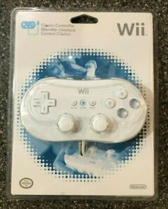 SEALED-NEW-Authentic-Official-Nintendo-Wii-White-Classic-Controller-Genuine