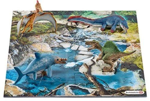Kids Mini Dinosaures Trou d/'Eau Puzzle Jeu Set Animal semblant Garçon Cadeau Nouveau