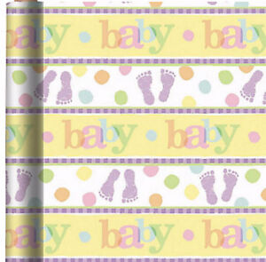 Baby Wrapping Paper Roll Gift Wrap Any Occasion 30 X 5 New Ebay