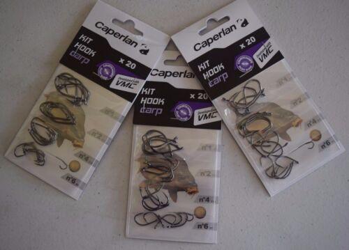 by Caperlan NEW 10 Carp Fishing Hook Kit 13-60pcs 12 4 Sizes #8