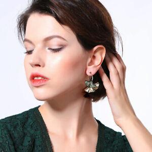 Boucles d/'Oreilles Clous Doré Ear Jacket Vert Irregulier Moderne AA 15