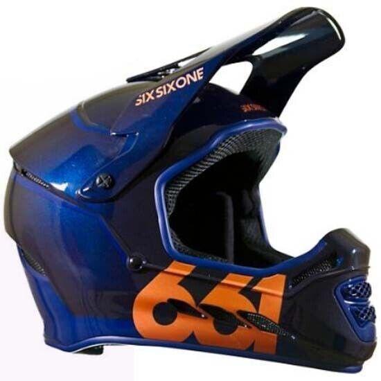 Sixsixone 661 Reset Fullface Completo Casco de Bicicleta MTB DH de descenso Face Azul XL