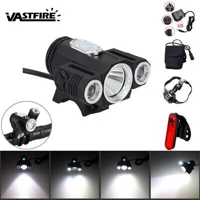 8000LM 2x XM-L U3 LED Front Bicycle Lamp Bike Light Head bicycle light 6400mAh