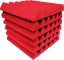 48-Pack-RED-Acoustic-Wedge-Studio-Soundproofing-Foam-Wall-Tiles-12x12x-2-034-inch thumbnail 3