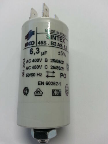 6,3MF CONDENSATEUR  6,3MF 6,3µF 450V 50//60 HZ 259017 BOITE 36