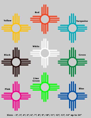 ZIA 575 outdoor vinyl Decal sticker 9 colors 15 sizes