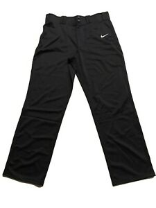 NIKE-MEN-039-S-BASEBALL-POLYESTER-SOFTBALL-BLACK-PANTS-SIZE-L
