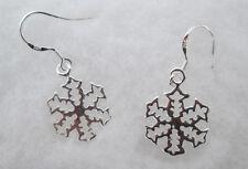 Sterling Silver Snow Flake Earrings