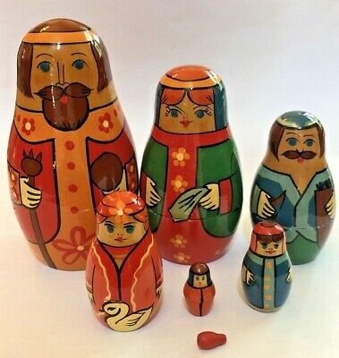 High Quality Wooden Russian Real Matrioska 7 Piece