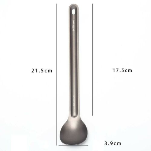 1pc Titanium Spoon Long Handle Spoon Outdoor Camping Tableware ESUS UP