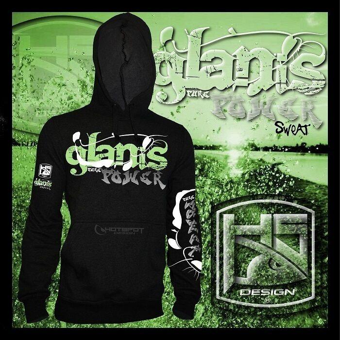 Hotspot Design Kapuzensweater Glanis, Pure Power, Wallerangler Hoody, schwarz    Deutschland Online Shop