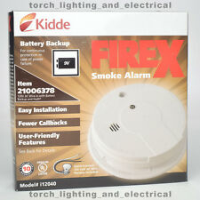 KIDDE FIREX, 21006378, i12040, SMOKE ALARM DETECTOR, 047871403813 w/BATTERY BU