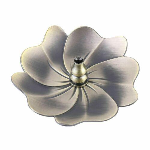 Alloy Incense Burner Stick Holder Plate Buddhism Coil Lotus Censer Home Decor