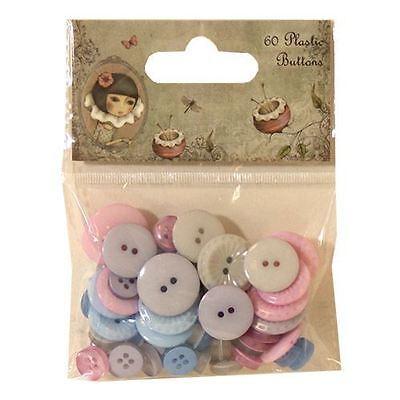 Santoro /'Willow/' 60 Plastic Buttons