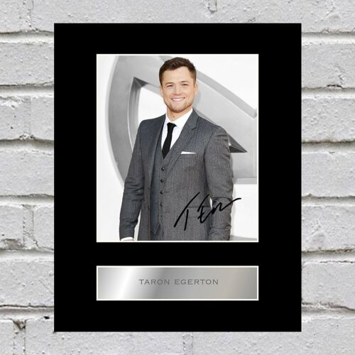 Taron Egerton Signed Mounted Photo Display