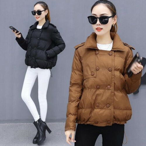 Loose Kvinders Coat Kort Tykk Varm Jackets Mode Winter Polstret Casual Bomuld rc6Pr0q