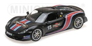 Porsche 918 Spyder Martini avec emballage Weissach Matt Black 2013 Modèle 1:18