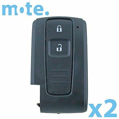 2 x 2 Button Smart Remote Key Fob Keyless Shell Case Replacement Toyota Prius
