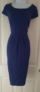 Womens-Lk-Bennett-Dress-size-12-blue-pencil-work-business-party-smart-office-vgc