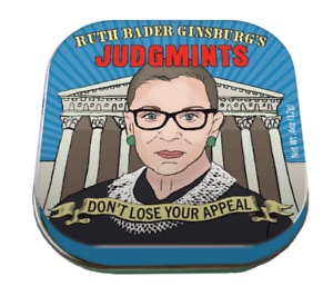 Ruth Bader Ginsburg JUDGEMINTS in COLLECTIBLE Tin  Organic Mints Made in USA