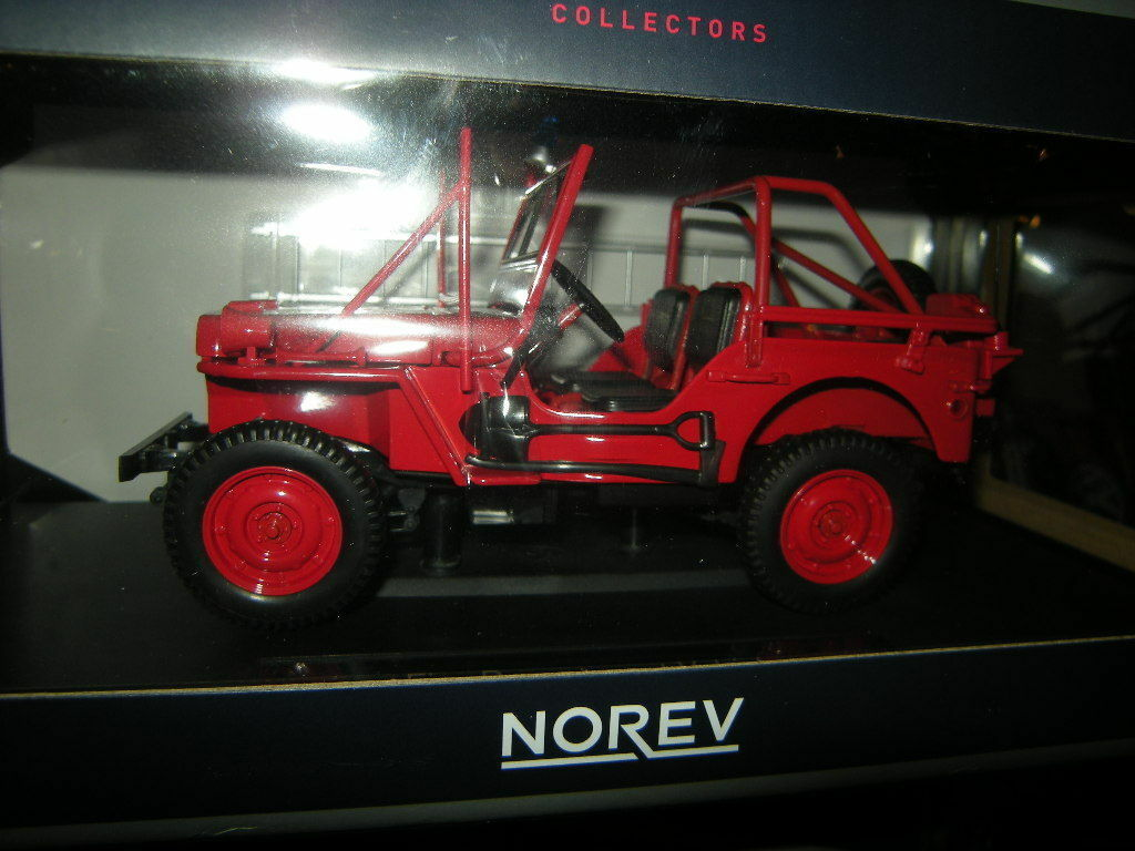 1 18 Norev Willys Jeep  Fire DepartSiet   Nr. 189012 Selten Rare in  OVP