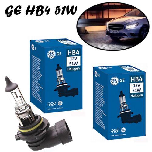 2x GE HB4 51W 12V P22d 53070U Weiß Scheinwerfer Halogen Ersatz Lampe E-geprüft