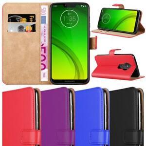 For Moto G7 Power Case Moto G7 Plus Case Premium Leather Wallet Flip Book Cover Ebay
