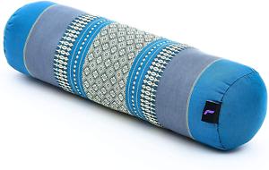 Leewadee Small Yoga Bolster Pilates Supportive Roll Cushion Neck Pillow Organic