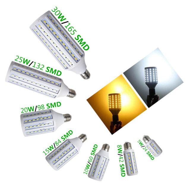 New E27 E14 15W 12W 8W 5W SMD 5630 LED Lights Energy Saving LED Corn Lamp Bulb