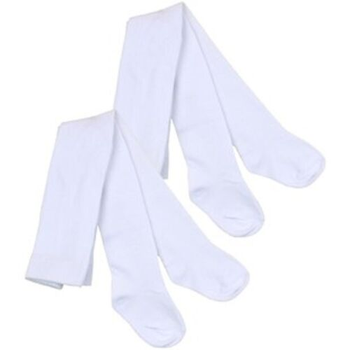 Baby Tights Cotton Rich Kids Tights Age 4 TO 5 Years  White By Sheldon