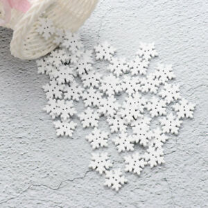 50Pcs-2-Hole-Flat-Wooden-Snowflake-Buttons-Handmade-Sewing-Clothing-Decoration