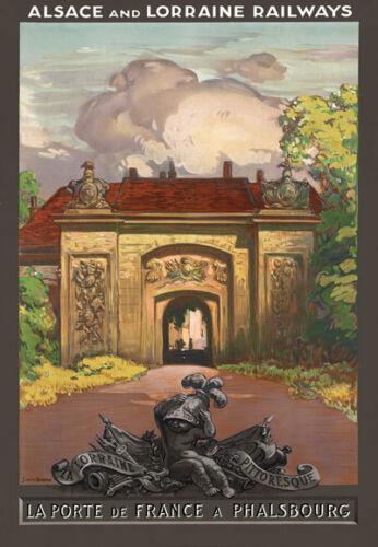 T98 Vintage Porte De France Phalsbourg French Travel Poster Re-Print A4