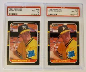 1987-Donruss-46-Mark-McGwire-PSA-8-NM-MT-Oakland-Athletics-Baseball-Card