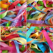 10mm - 25mm Mixed Bright Colours Spring Ribbons 10 X 1Mtr by Berisfords