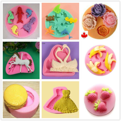 Child Baby Silicone Cake Fondant Cookie Biscuit Chocolate Mold Decorate Tools