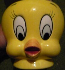 Looney-Tunes-Applause-Tweety-Bird-mug-cup-yellow-1989-vintage