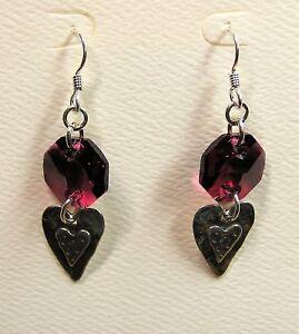 Handmade-Swarovski-Crystal-Sterling-Charms-Earrings-With-Sterling-Earwires-10