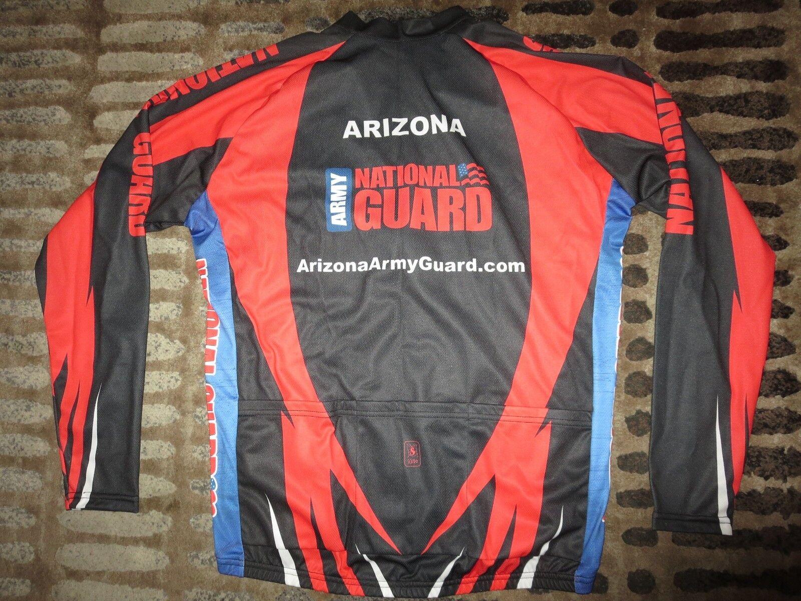 Us Army Army Army Nazionale Prossoezione Arizona Ciclismo Squadra Scudo Maglia XL Da 3b210e
