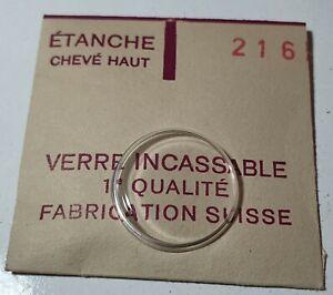 Verre-de-montre-suisse-bombe-plexi-diametre-216-Watch-crystal-vintage-NOS