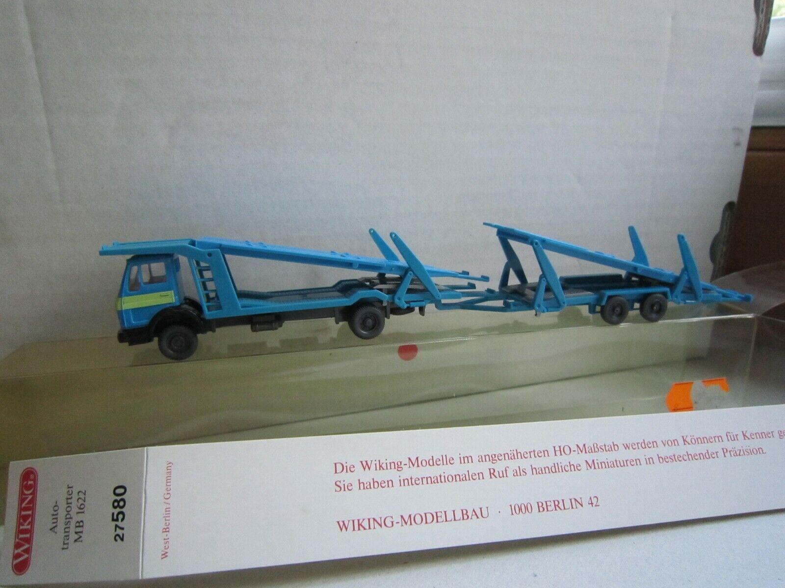 Wiking 1//87 Nr silbergrau OVP #4439 580 27 MB 1622 Autotransporter Zug rot