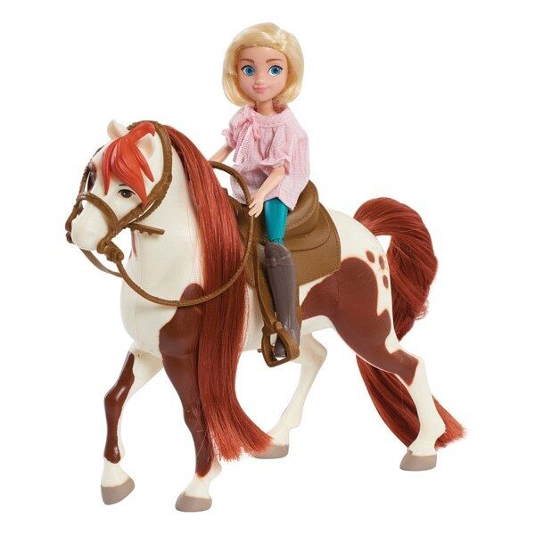 Dreamworks Spirit Riding Free Doll And Classic Horse Abigail And Boomerang Set