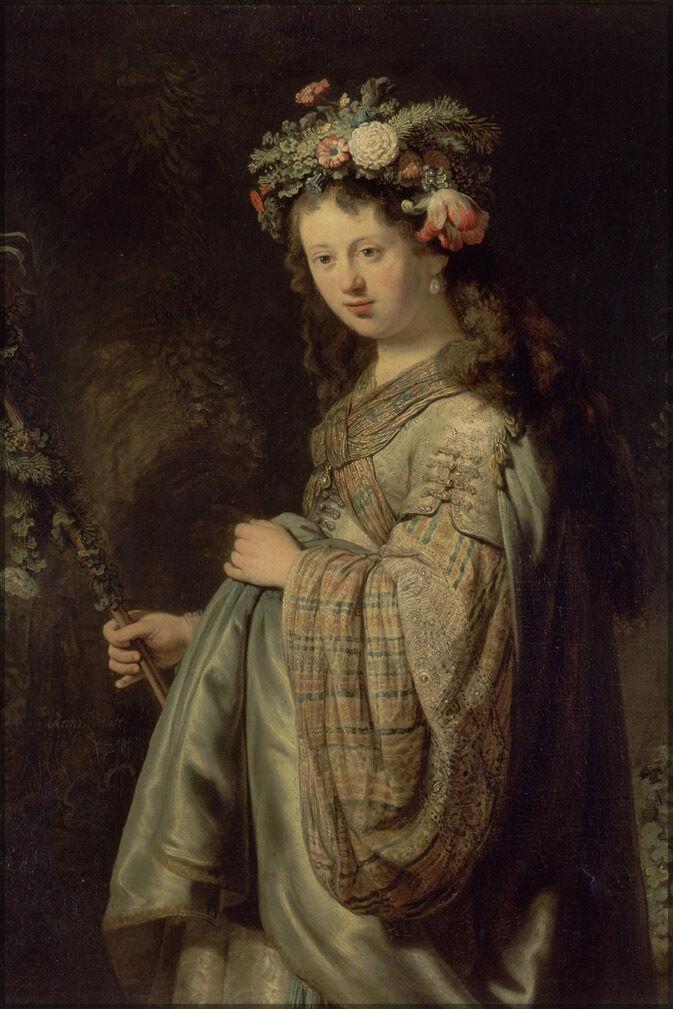 Plakat, Viele Größen; Flora von Rembrandt