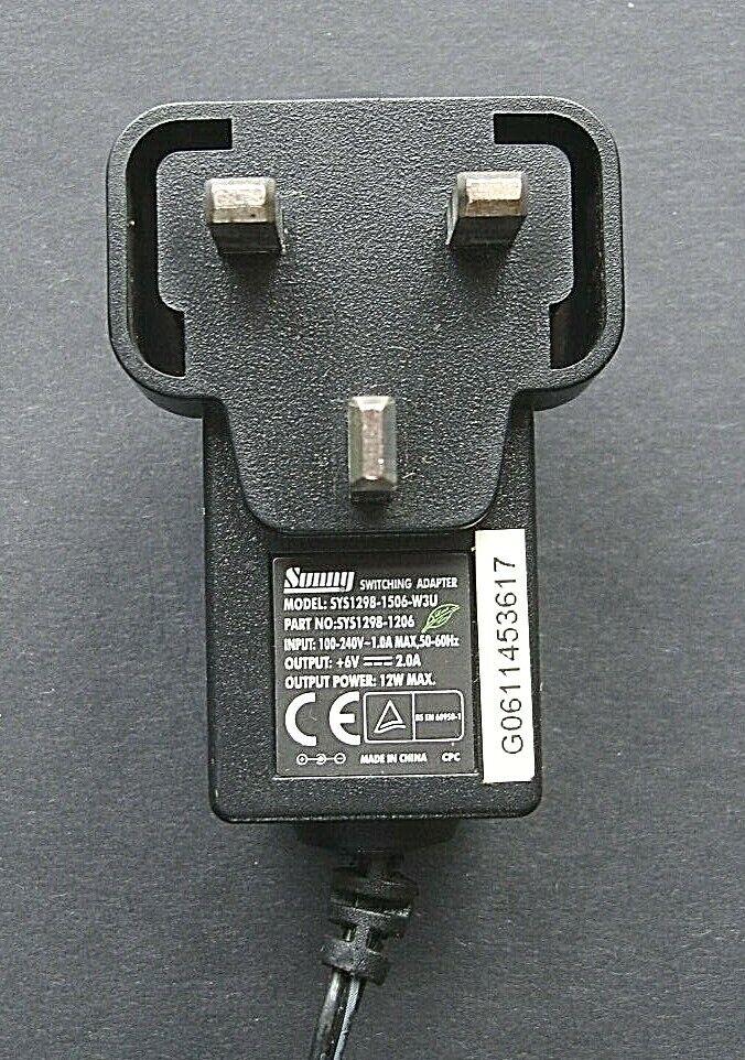 SUNNY SYS1298-1506-W3U Switch Mode Adaptor.