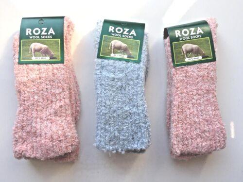 3 Pairs Women Ladies Sleeping Thermal Socks Winter Cosy Bed Socks Size 4-7  MJHF