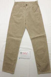 Levi-039-s-551-Velluto-Cod-E521-Tg45-W31-L34-jeans-beige-usato-Vita-Alta-Vintage