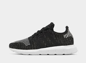 Women-Adidas-Originals-Swift-Run-Running-Athletic-Shoes-Black-Silver-EG7984