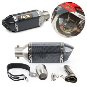 Universal-Black-Moped-Scooter-Exhaust-Muffler-Pipe-Removable-DB-Silencer-Can